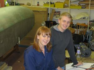 Young Volunteers in the workshop at Derby Airfield (Feb 2014)