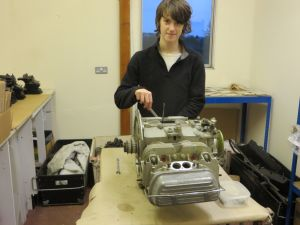 Robert one of the young volunteers on the PNZ restoration project. Taken before engine dismnatled
