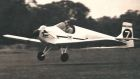 HRH Duke of Edinburgh landing G-APNZ D.31 Druine Turbulent 1959 UK